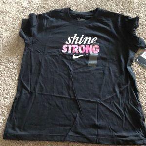 Girls NWT Shine Strong Nike Tee